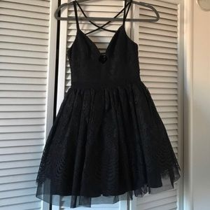 Bebe Black Lace Dress